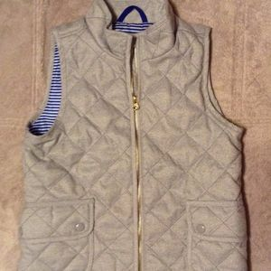 Old Navy XL Dobby Quilted Grey Vest